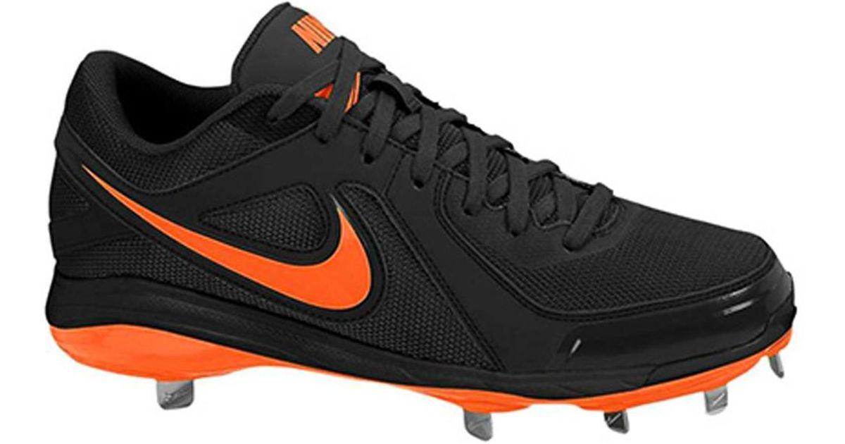 New Mens Nike Air MVP Pro Metal 2 Baseball Cleats Black/White Size 10 Retail