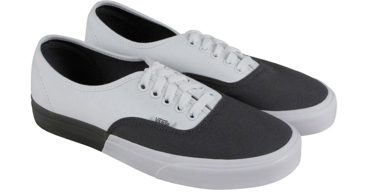 3ab8c64c14 Lyst - Vans Authentic Pewter True White Lace Up Sneakers in Gray for Men