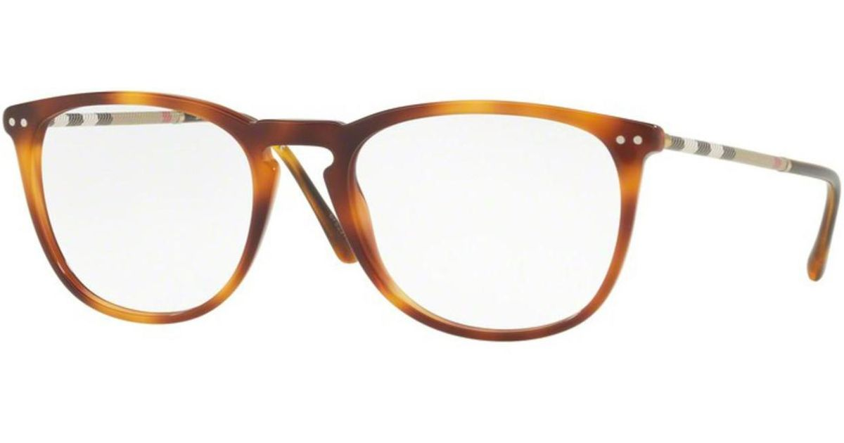 219a4520f7e Lyst - Burberry Eyeglasses Be 2258 Q 3316 Light Havana in Brown