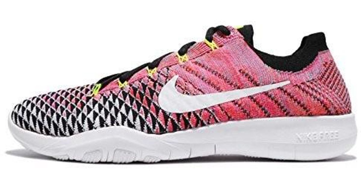 cheaper af65d 6988e Nike - Pink Free Tr Flyknit 2 Nylon Running Shoes - Lyst