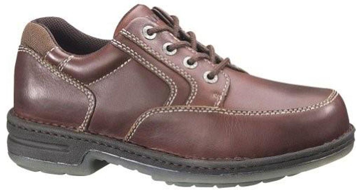 c7e6ddae5f8a Lyst - Wolverine Steel Toe Electrical Hazard Durashocks Oxford Shoes Dark  Brown in Brown for Men