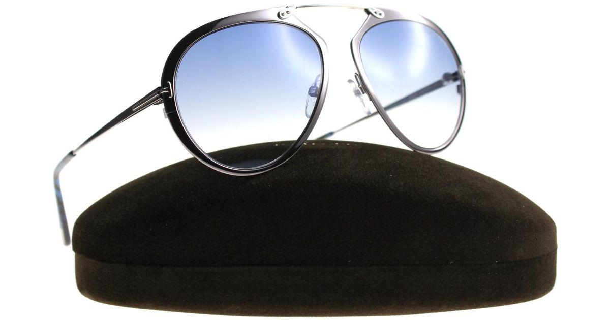 ffe0b99a493 Lyst - Tom Ford Dashel Tf 508 12w 55mm Unisex Metal Sunglasses in Blue