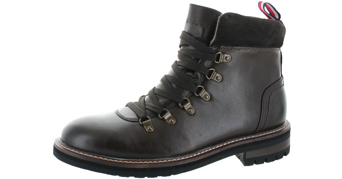 368aa7495e5a93 Lyst - Tommy Hilfiger Halex Leather Alpine Hiking Boots in Black for Men