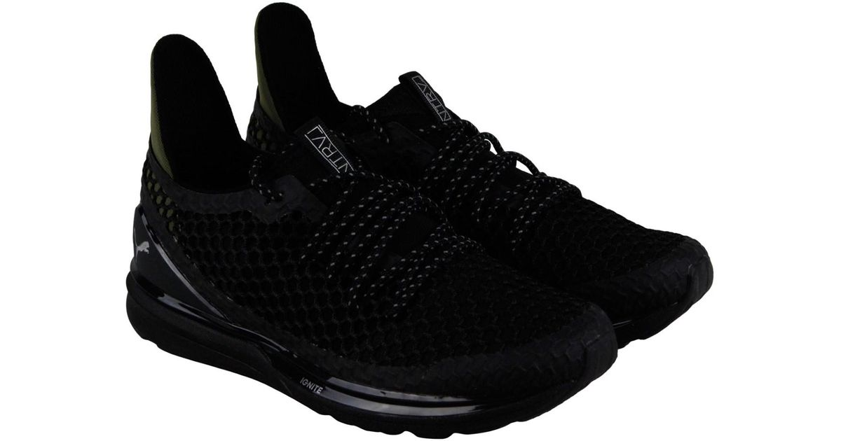 5effd4e9bed1 Lyst - PUMA Ignite Lmtlss Netfit Staple Olive Night Athletic Training Shoes  in Black for Men