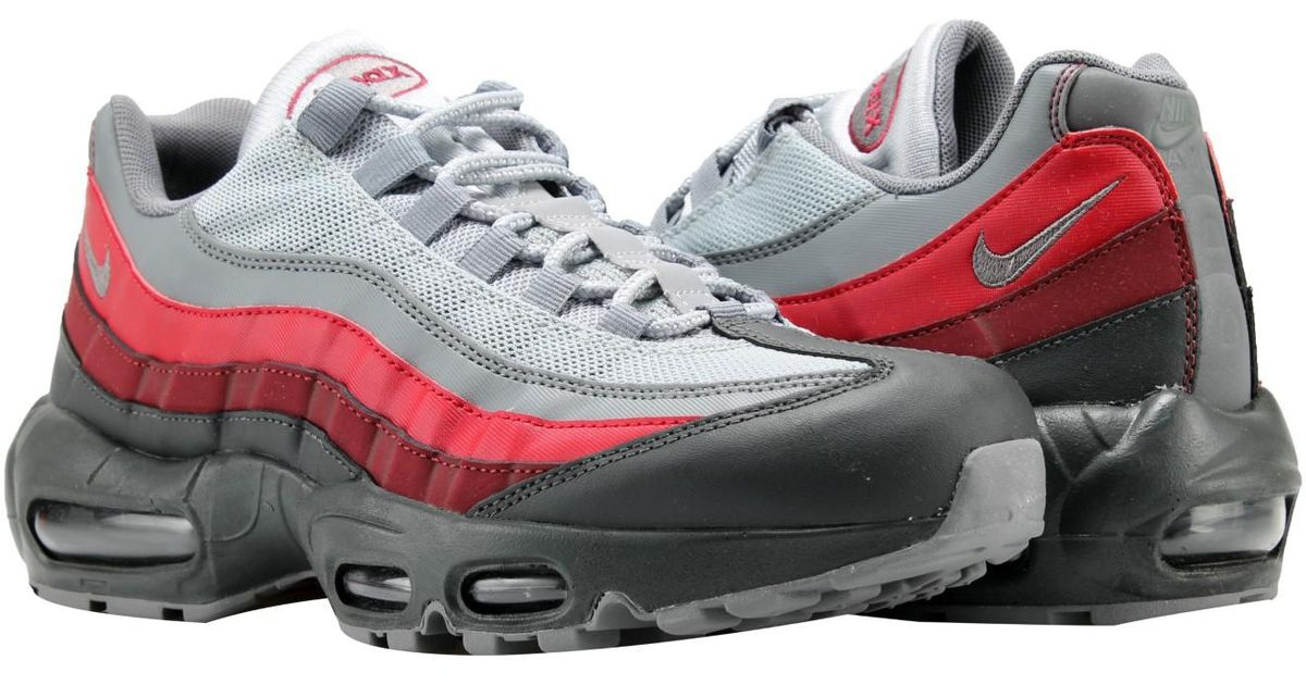 7b43e640e725a Lyst - Nike Air Max 95 Essential Anthracite grey-red Running Shoes 749766-025  in Gray for Men
