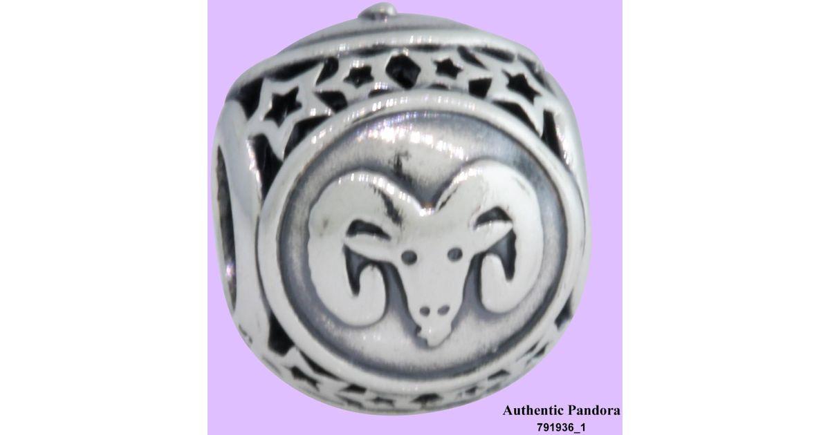 d186d898c ... best price lyst pandora 791936 aries star sign charm in metallic 11d1d  b1dcc