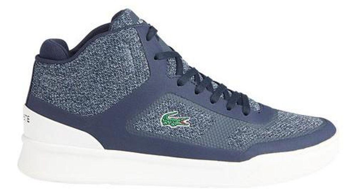 4ddcfdc70 Lyst - Lacoste Explorateur Sport Mid High Top Sneaker in Blue for Men
