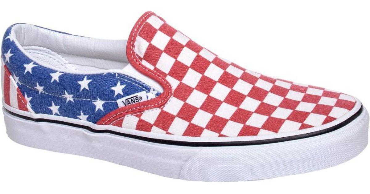 79f672267aa3ad Lyst - Vans Classic Slip-on Van Doren Stars   Stripes Checker Ankle-high  Canvas Skateboarding Shoe for Men