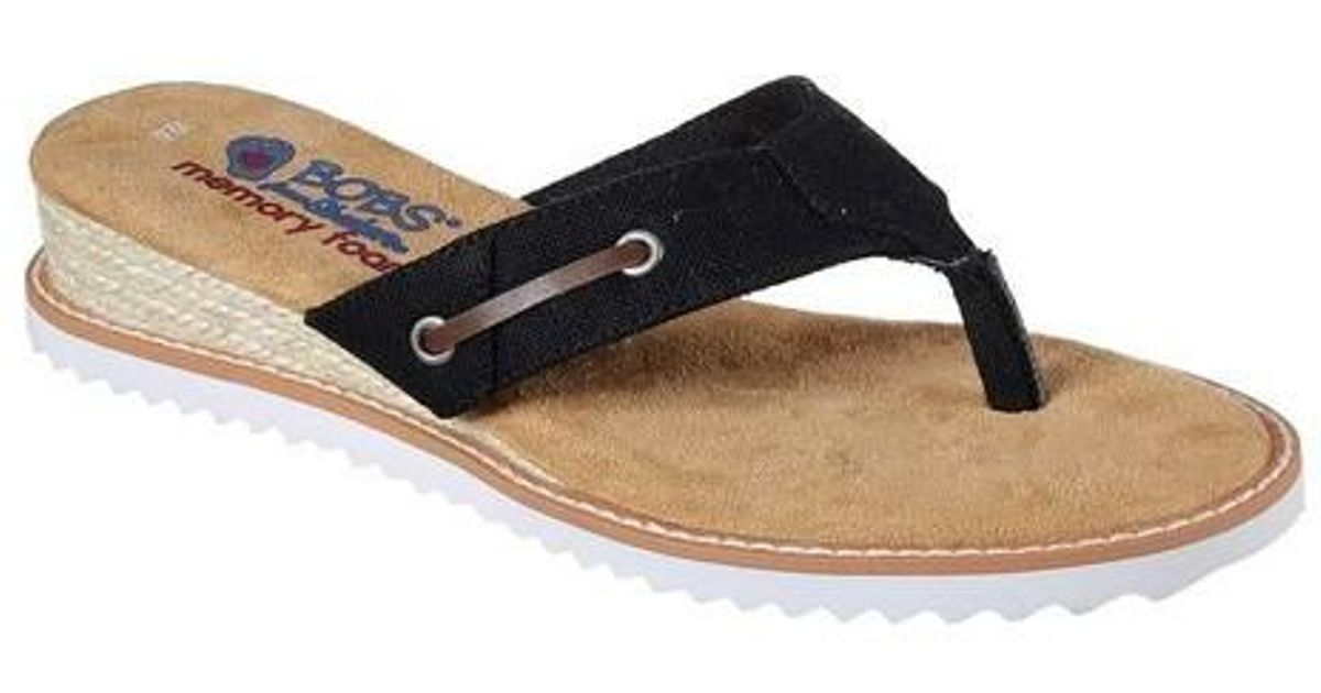 441aefd56c14 Lyst - Skechers Bobs Desert Kiss Off Grid Thong Sandal in Black