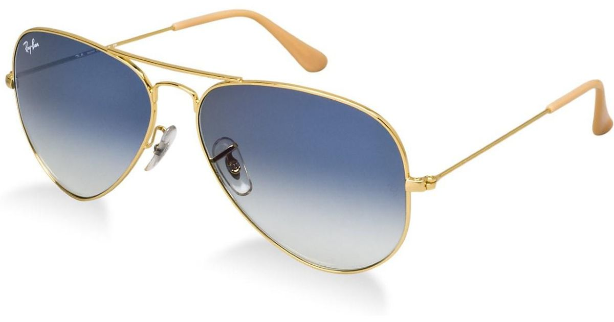 Lyst - Ray-Ban 0rb3025 001 3f 55 Gold crystal Gradient Light Blue Aviator  Large Metal Icons Sunglasses in Blue for Men 829b087327