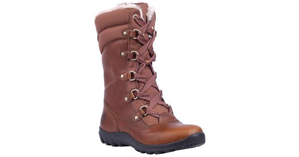 Lyst - Timberland Earthkeepers Mount Hope Mid Leather fabric Boot in Brown 350346b60311