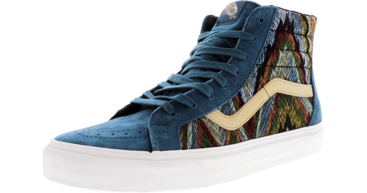 e88b20ffa8 Lyst - Vans Sk8-hi Zip Ca Italian Weave And Pig Suede High-top  Skateboarding Shoe - 10m in Blue for Men