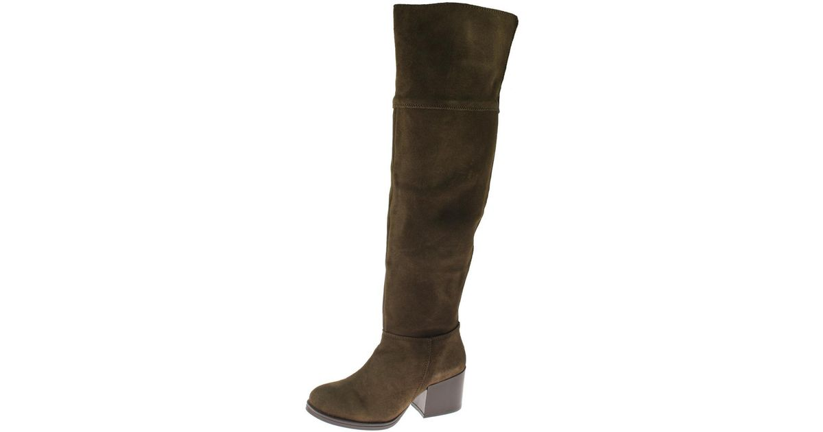 464912d5e19 Lyst - Steve Madden Orabela Suede Solid Over-the-knee Boots in Brown