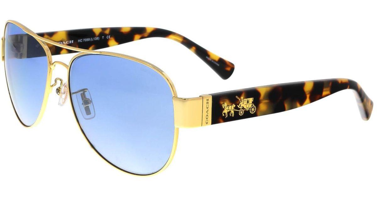 6a96462b49 ... closeout lyst coach sunglasses hc 7059 92001u gold tokyo tortoise 72c64  c9737 ...