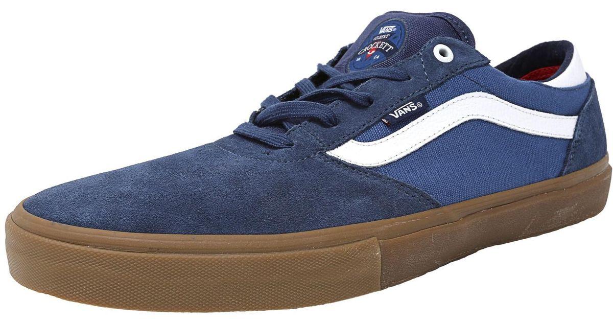 9fd8ce8950c1 Lyst - Vans Gilbert Crockett Pro Blue   White Gum Ankle-high Skateboarding  Shoe in Blue for Men
