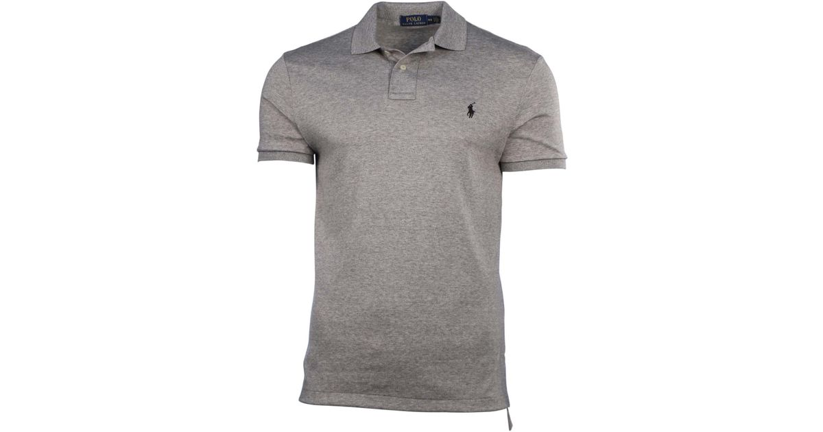 Polo Ralph Lauren Polo Shirt Small Black With Red Pony Interlock Shirts