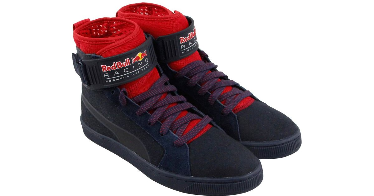 ... where to buy lyst puma rbr cups mid eclipse red high top sneakers in  gray for 092acdee2