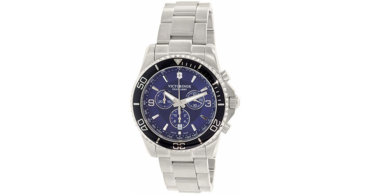 11b7f4eb66b9 Lyst - Victorinox Swiss Army Maverick Chronograph Blue Dial Watch 241689 in  Blue for Men