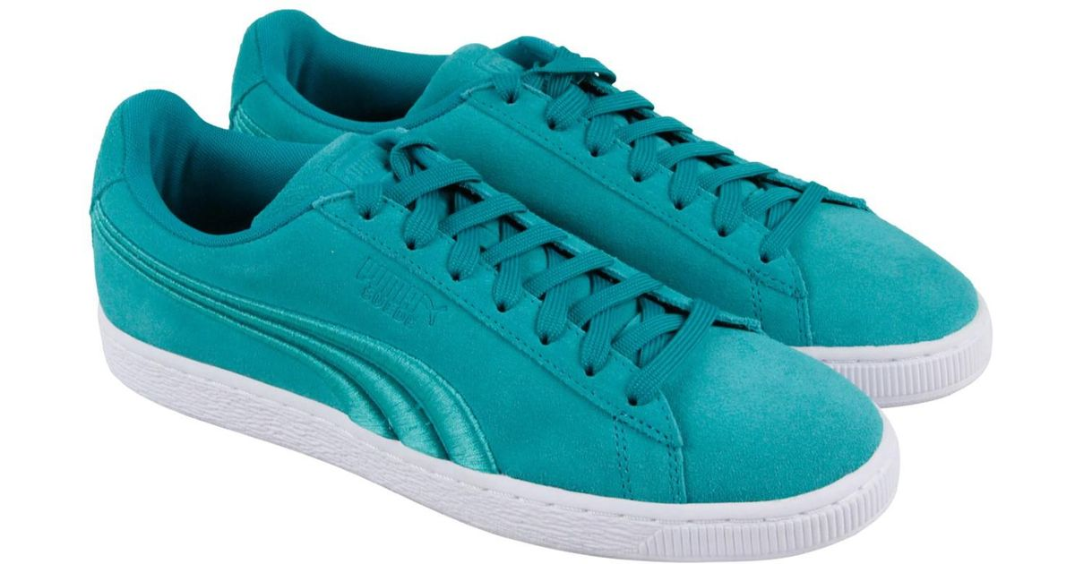 558de85acce Lyst - PUMA Classic Badge Navigate Lace Up Sneakers in Green for Men