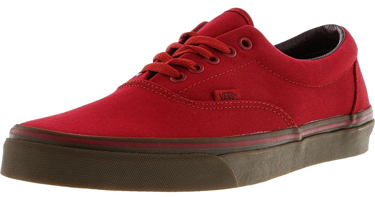 9bbbb80f58 Lyst - Vans Era Canvas Ankle-high Skateboarding Shoe - 11.5m in Red for Men