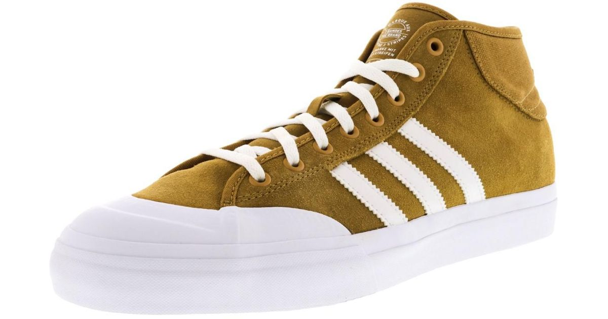 7f5c66f792b Lyst - Adidas Matchcourt Mid Adv Mesa   Footwear White Ankle-high Skateboarding  Shoe - 9m in White for Men