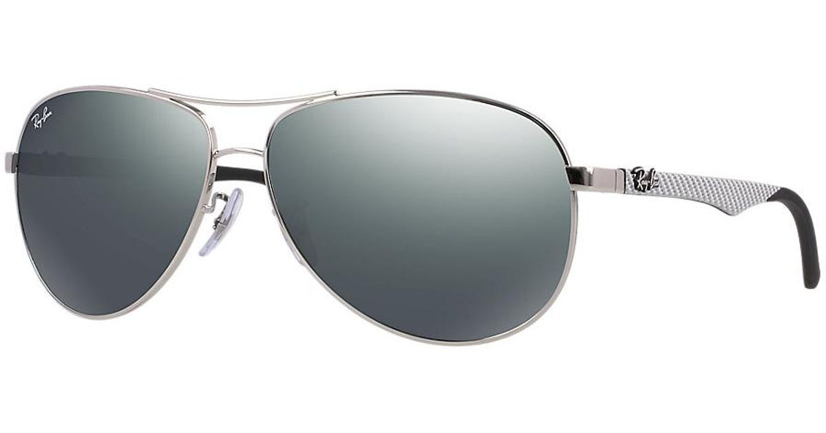 9cdb0667d07c8 Ray-Ban 0rb8313 003 40 61 Silver crystal Grey Mirror Carbon Fibre Tech  Sunglasses in Gray - Lyst