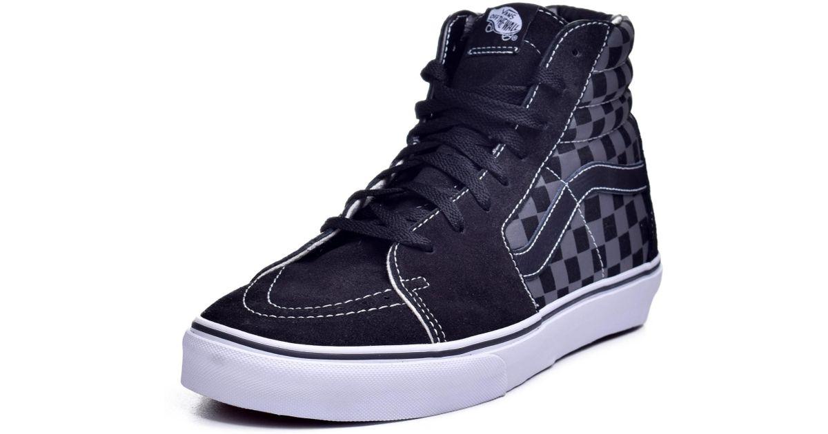 62514c3bc57ae Vans - Unisex Sk8-hi Black/pewter Checkerboard Skate Shoe 10.5 Men Us / 12  Women Us for Men - Lyst