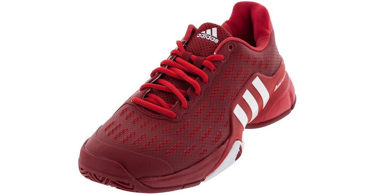 huge selection of e14d9 82e80 ... new zealand lyst adidas originals mens barricade 2016 mesh comfort  insole tennis shoes in red for