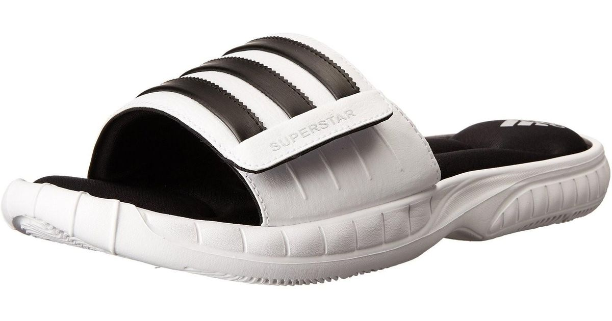 9ea09bef0 Lyst - adidas Superstar 3g Cloudfoam Athletic Slide Sandals -- White black  in Black for Men