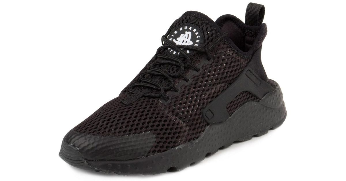 d7c64dbdc26c Lyst - Nike Womens Air Huarache Run Ultra Breathe Black Mesh Trainers 7.5  Us in Black