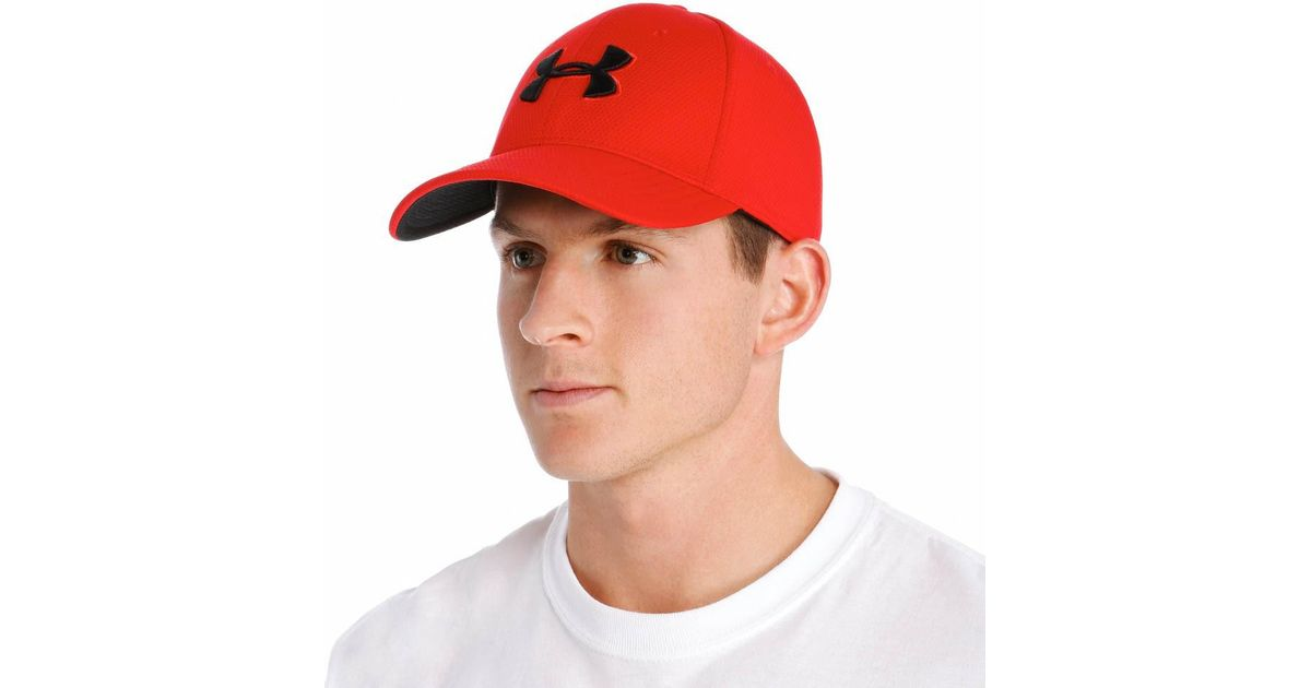 fd5f4f2ef92 Lyst - Under Armour 1254123 Blitzing Ii Stretch Fitted Cap (red black L xl)  in Black for Men