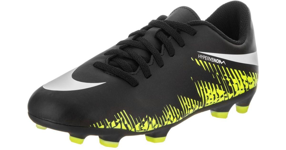 differently 7806c 1afe7 Nike - Kids Jr Hypervenom Phade Ii Fg Black/white/volt Soccer Cleat 6 Kids  Us for Men - Lyst