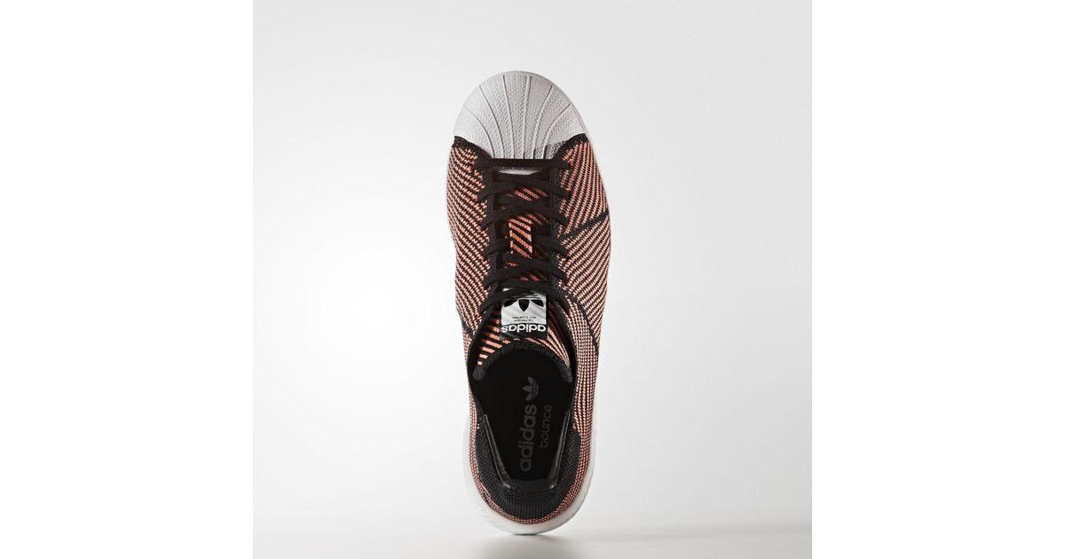 Adidas Black Superstar Bounce Primeknit Shoes Lyst