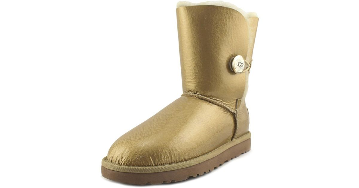 UGG Multicolor Bailey Button Mirage Women Us 7 Gold Snow Boot Lyst