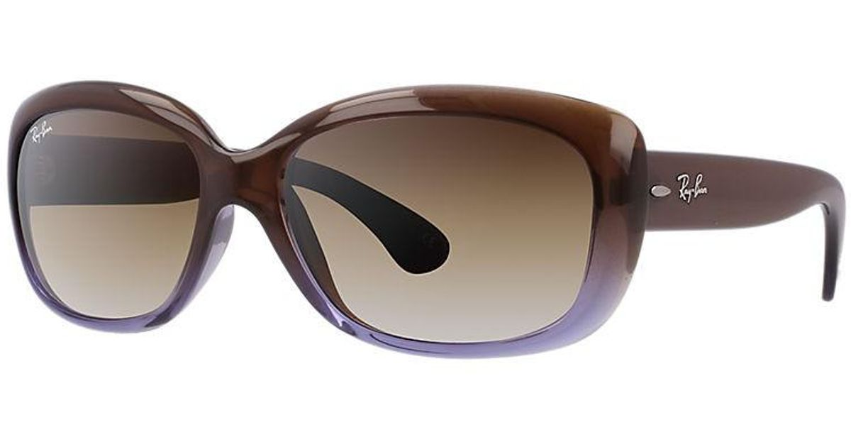 5d5b4c223ba Lyst - Ray-Ban Jackie Ohh Rb4101-860 51-58 Brown Square Sunglasses in Brown