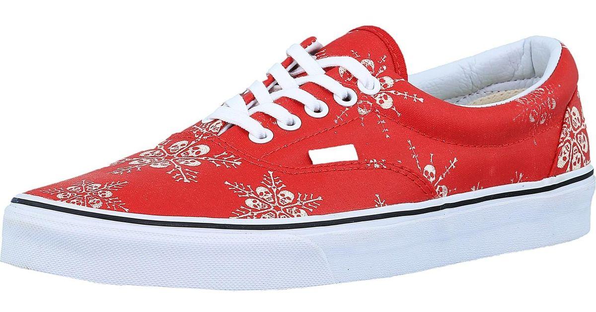 4eafcf90cc1f Lyst - Vans Era Van Doren Skull Snowflake racing Red Ankle-high Canvas Flat  Shoe in Red for Men