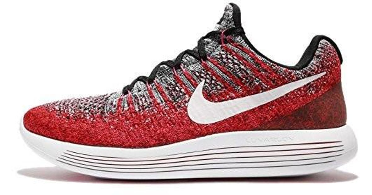 45c1a51d9e51 Lyst - Nike Lunarepic Low Flyknit 2 Running Shoe Black white-hyper  Punch-university Red 11.0 in Red for Men