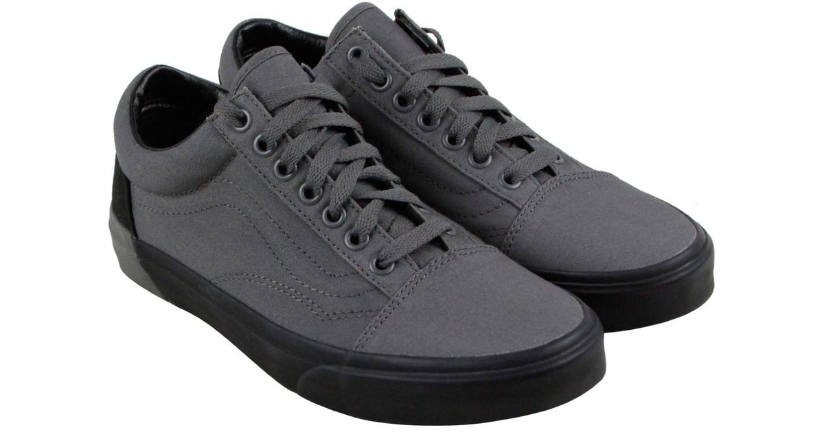 Lyst - Vans Old Skool V Pewter Black Lace Up Sneakers in Gray for Men f8938956c