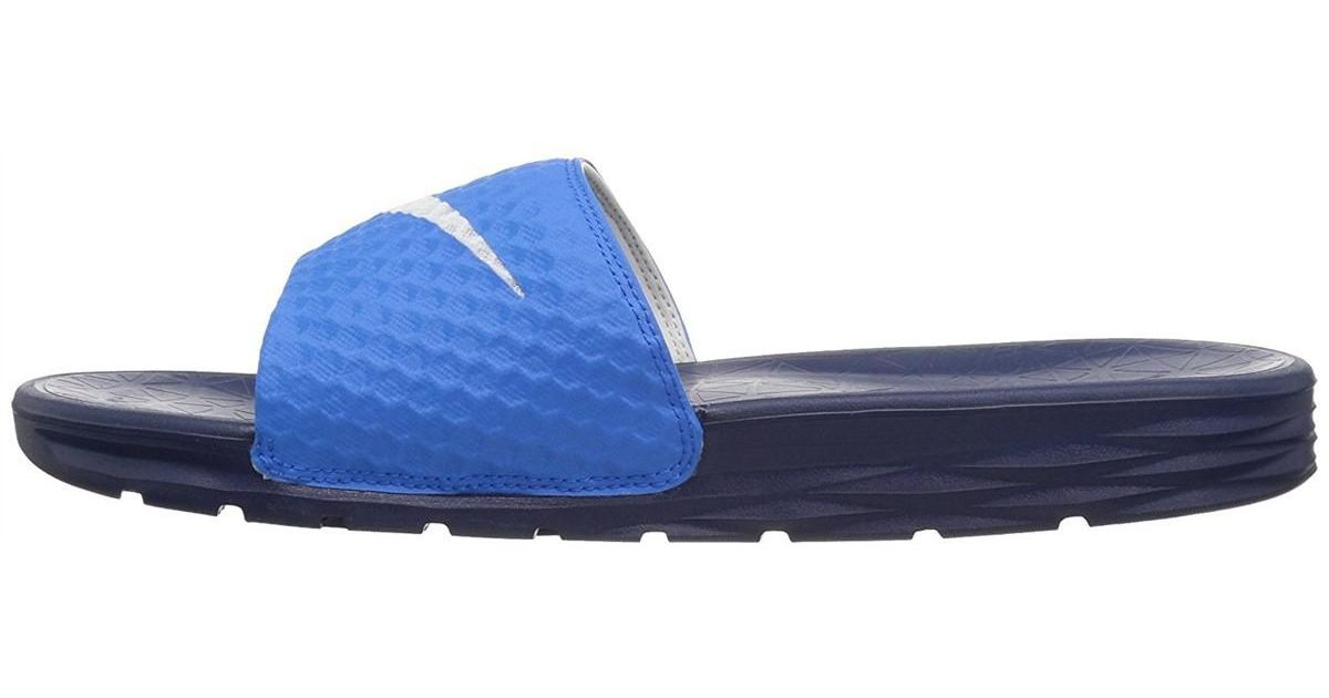 42e9c19d8 Lyst - Nike Benassi Solarsoft Slides - 11 - Blue in Blue