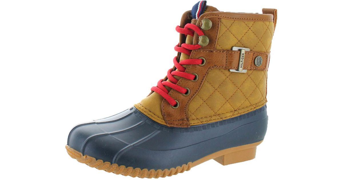 d74789cd469bfb Lyst - Tommy Hilfiger Ravel 2 Quilted Waterproof Winter Duck Boots in Blue  for Men