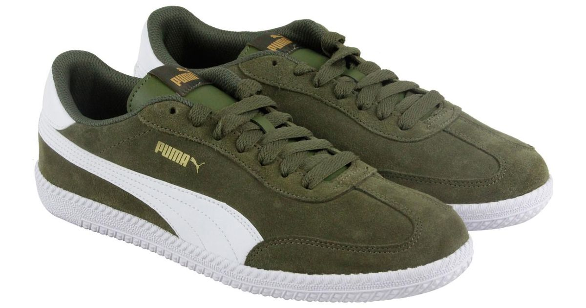 e6c93f45a84 Lyst - PUMA Astro Cup Olive Night White Mens Lace Up Sneakers in Green for  Men