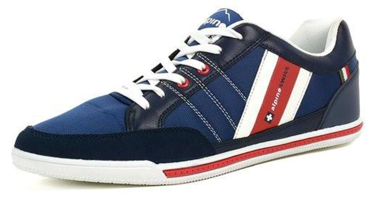 the best attitude 55807 bcc45 Lyst - Alpine Swiss Stefan Mens Retro Fashion Sneakers Tennis Shoes Casual  Athletic New in Blue for Men