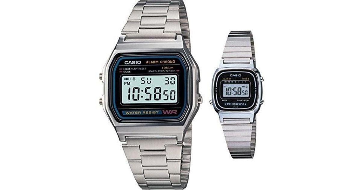 4f044a76004f G-Shock  a158wa-1 la670wa-1 Men And Classic Metal Band Alarm Chronograph  Digital Watches for Men - Lyst