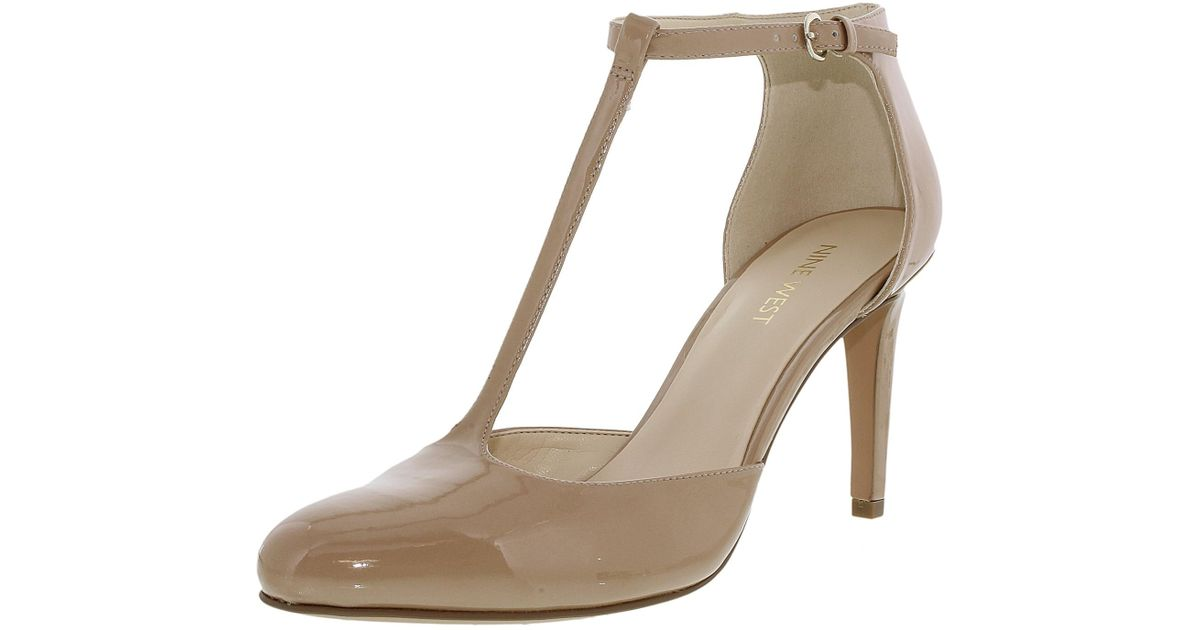 053e8e40381 Lyst - Nine West Halinan Light Natural Ankle-high Pump in Natural