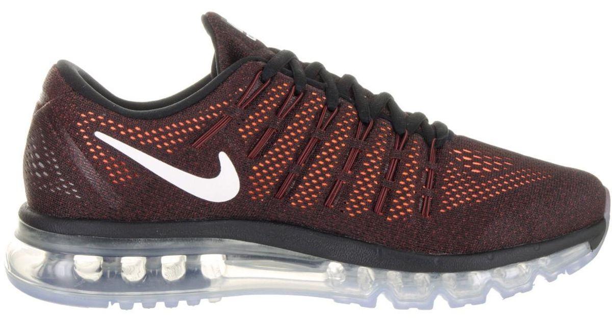 size 40 1a748 8e657 Nike Air Max 2016 Black/white/orange 806771-010 (size:13) for Men - Lyst