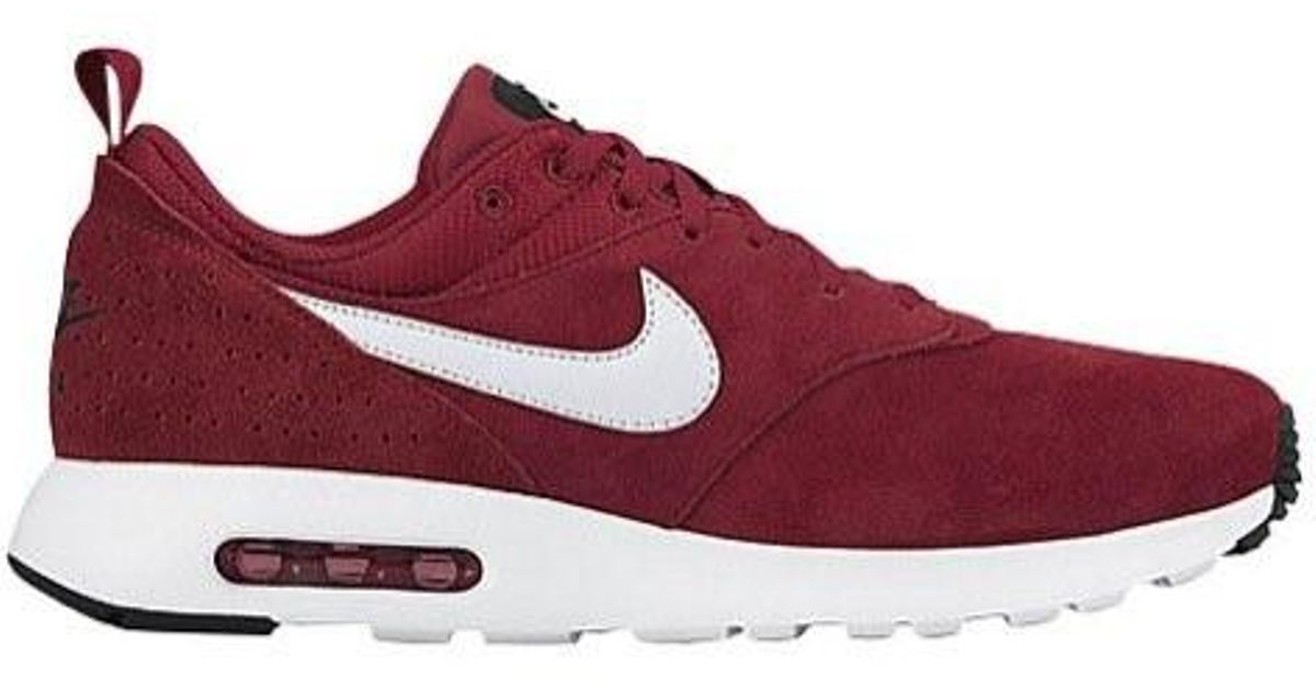 detailed look e4a4a a9442 Lyst - Nike Air Max Tavas Gym Red   White-black Ankle-high Cross Trainer  Shoe in Red for Men