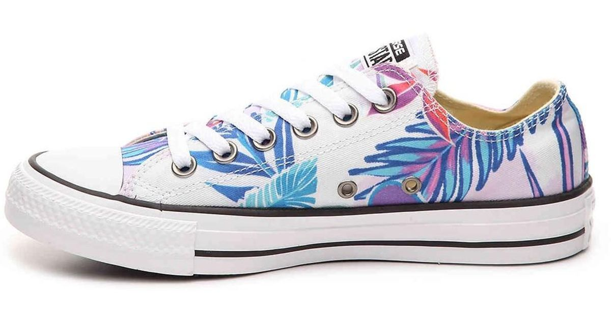 87233960ee Lyst - Converse Mens Chuck Taylor All Stars Tropical Print Ox Low Top Multi  Canvas Trainers 8.5 Us for Men