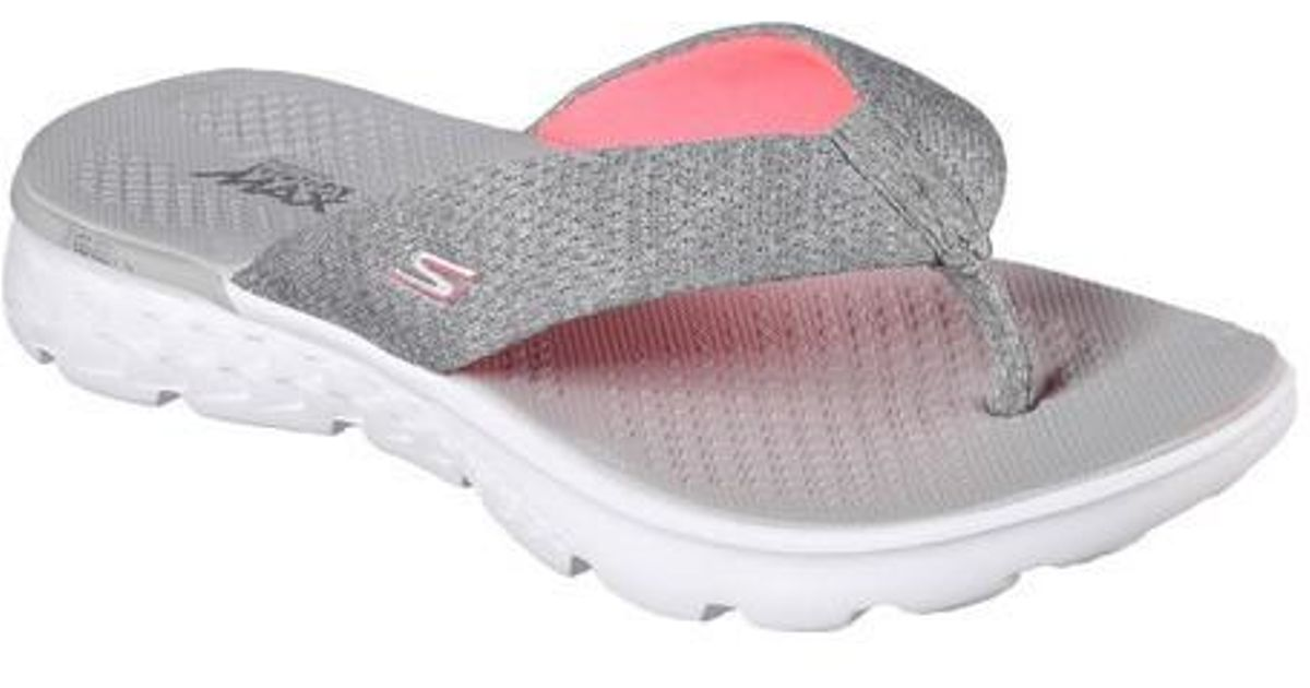 be131d10695 Lyst - Skechers On The Go 400 Vivacity Flip-flop in Gray