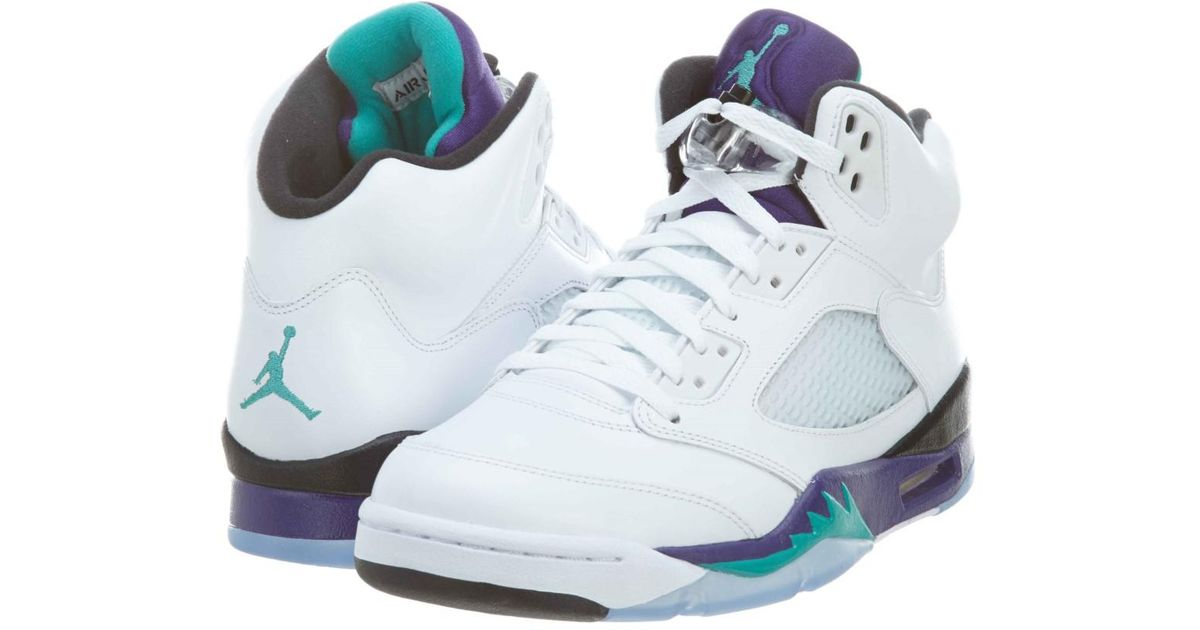 best loved 64a3f 237c6 Lyst - Nike Air Jordan 5 Retro Grape in Blue for Men