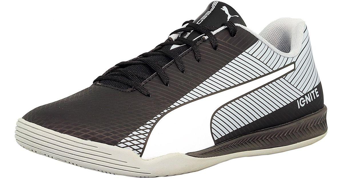 9f055b2408c Lyst - Puma Evospeed Star S Ignite Black   White Ankle-high Rubber Fashion  Sneaker in Black for Men